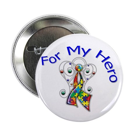 "Autism For My Hero 2.25"" Button (10 pack)"