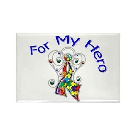 Autism For My Hero Rectangle Magnet (10 pack)