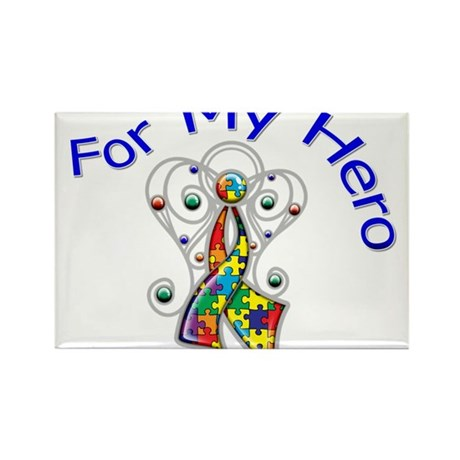Autism For My Hero Rectangle Magnet (100 pack)