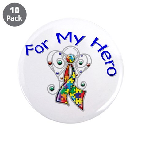 "Autism For My Hero 3.5"" Button (10 pack)"