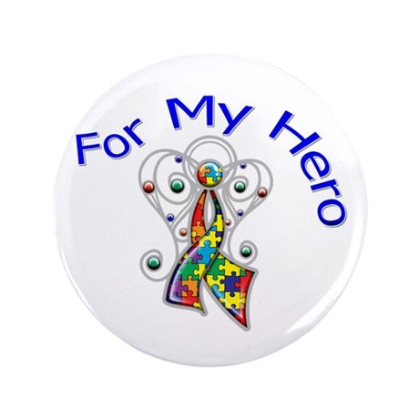 "Autism For My Hero 3.5"" Button (100 pack)"