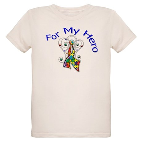 Autism For My Hero Organic Kids T-Shirt