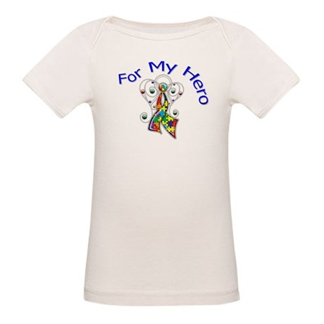 Autism For My Hero Organic Baby T-Shirt