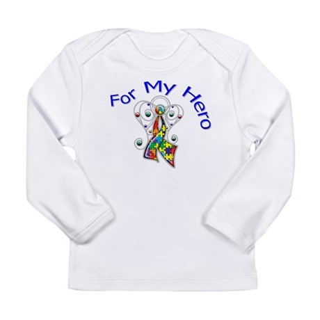 Autism For My Hero Long Sleeve Infant T-Shirt