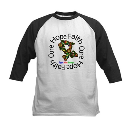 Autism Flower Hope Kids Baseball Jersey