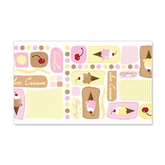 Ice Cream Blocks 22x14 Wall Peel