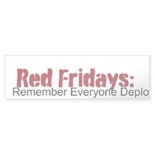 """Red Fridays"" Bumper Sticker"