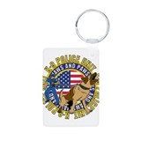 K9 Jaws and Paws Aluminum Photo Keychain