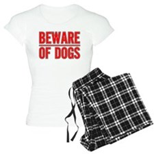Beware of Dogs(White) Pajamas