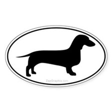 Dachshund Euro Decal