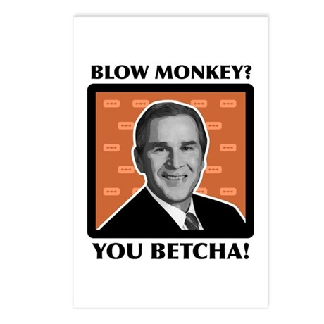Blow Monkey? You Betcha! Postcards (Package of 8)