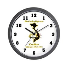 8th Cavalry Regiment Cavaliers Wall Clock