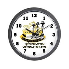 8th Cavalry Regiment Not Forgotten Wall Clock