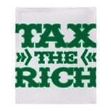 TAX THE RICH Throw Blanket