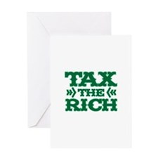 TAX THE RICH Greeting Card