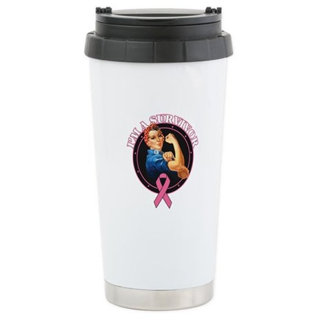 BreastCancer I'mASurvivor Ceramic Travel Mug