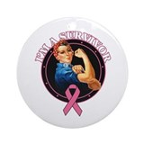 BreastCancer I'mASurvivor Ornament (Round)