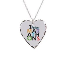 I Run Marathons Necklace