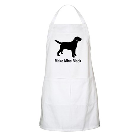 Make Mine Black BBQ Apron