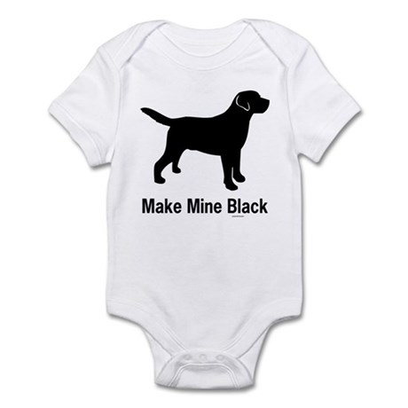 Make Mine Black Infant Creeper