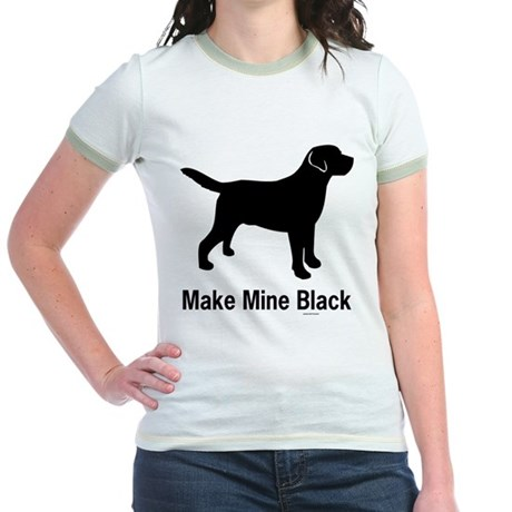 Make Mine Black Jr. Ringer T-Shirt