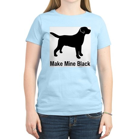 Make Mine Black Women's Pink T-Shirt