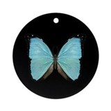 Ecuadorian Morpho Butterfly Keepsake (Round)