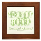 Scrapbook Forever - Green Framed Tile
