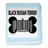 Cute Black russian terrier baby blanket