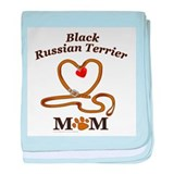 BLACK RUSSIAN TERRIER baby blanket
