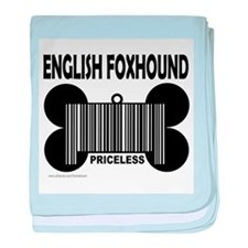 ENGLISH FOXHOUND PRICELESS baby blanket