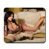 Denise Milani in Gold Mousepad