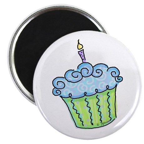 "Cute Cupcake (blue) 2.25"" Magnet (100 pack)"