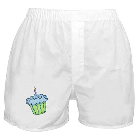 Cute Cupcake (blue) Boxer Shorts