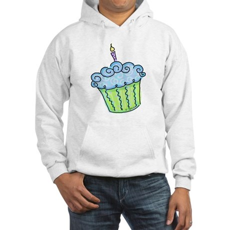 Cute Cupcake (blue) Hooded Sweatshirt