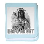BLACKFEET INDIAN CHIEF baby blanket