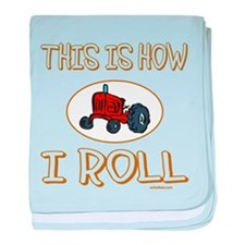 FARMER'S TRACTOR baby blanket