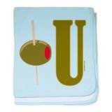 OLIVE U (I LOVE YOU) baby blanket