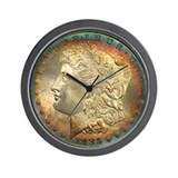 Toned Morgan Dollar Shop Wall Clock