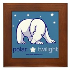Blue PolarTwilight logo Framed Tile