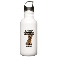 Silky Terrier Dad Water Bottle