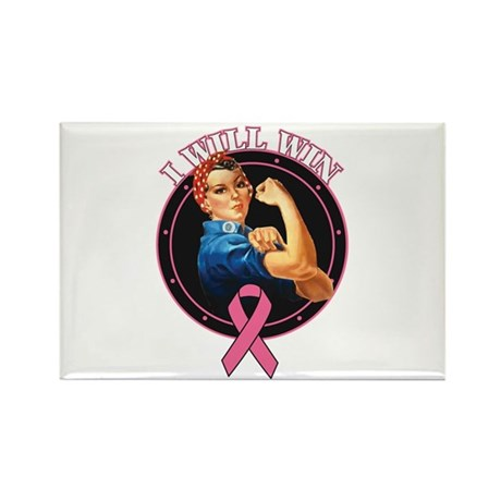 BreastCancer IWillWin Rectangle Magnet