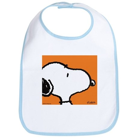 Fresh Orange Snoopy Bib