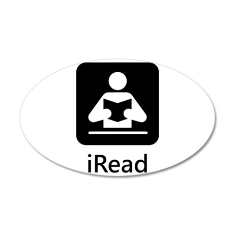iRead 38.5 x 24.5 Oval Wall Peel