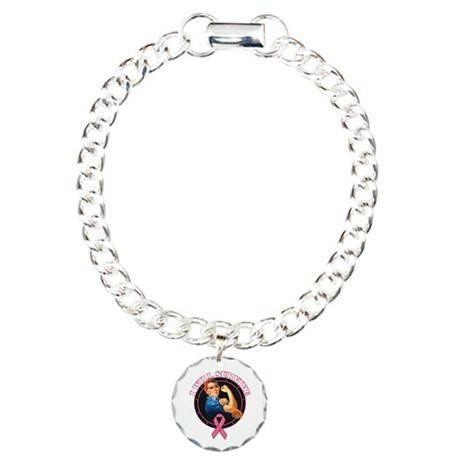 Breast Cancer I Will Survive Charm Bracelet, One C