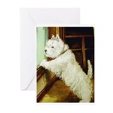 WAITING - West Highland White Greeting Cards (Pack