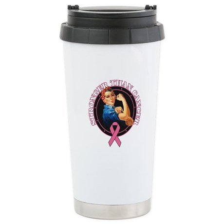 Stronger Than BreastCancer Ceramic Travel Mug