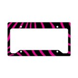 Hot Pink Zebra License Plate Holder