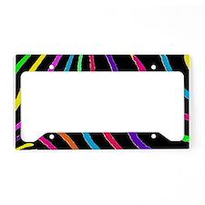 Rainbow Zebra Print License Plate Holder