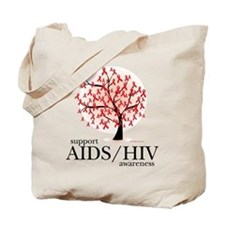 AIDS/HIV Tree Tote Bag